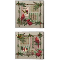 Framed Country Christmas 2 Piece Canvas Print Set