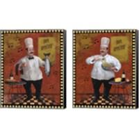 Framed Chef Master Design 2 Piece Canvas Print Set