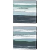 Framed Teal Sea 2 Piece Canvas Print Set
