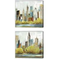 Framed Hudson Ferry 2 Piece Canvas Print Set