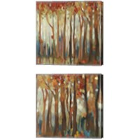 Framed Marble Forest  2 Piece Canvas Print Set