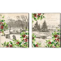Framed Vintage Holiday 2 Piece Canvas Print Set