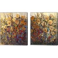 Framed Bright & Bold Flowers 2 Piece Canvas Print Set