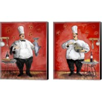Framed Chef 2 Piece Canvas Print Set