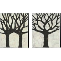 Framed Batik Arbor 2 Piece Canvas Print Set