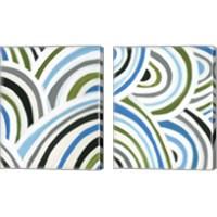Framed Swirly Bob 2 Piece Canvas Print Set