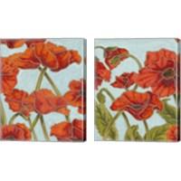 Framed Poppy Talk 2 Piece Canvas Print Set