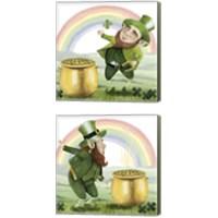 Framed Leprechaun's Rainbow 2 Piece Canvas Print Set