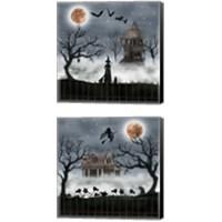 Framed Harvest Moon 2 Piece Canvas Print Set