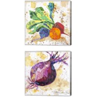 Framed Veggie Splash 2 Piece Canvas Print Set