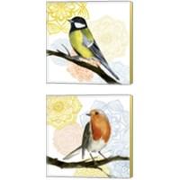 Framed Mandala Bird 2 Piece Canvas Print Set