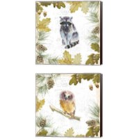 Framed Into the Woods 2 Piece Canvas Print Set