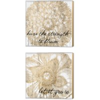 Framed Metallic Floral Quote 2 Piece Canvas Print Set
