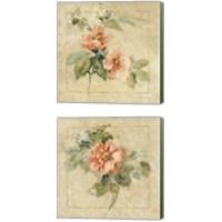 Framed Provence Rose 2 Piece Canvas Print Set