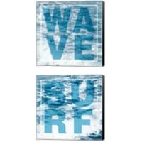 Framed Surf & Wave 2 Piece Canvas Print Set