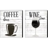 Framed Coffee Hour 2 Piece Canvas Print Set