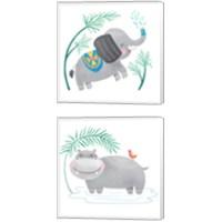 Framed Safari Cuties  2 Piece Canvas Print Set