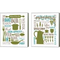 Framed Culinary Love 2 Piece Canvas Print Set