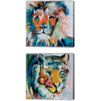 Framed Do You Want My Lions Share 2 Piece Canvas Print Set