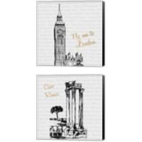 Framed Travel Pack 2 Piece Canvas Print Set