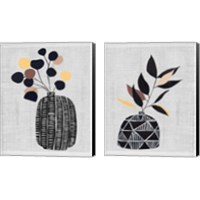 Framed Decorated Vase with Plant 2 Piece Canvas Print Set