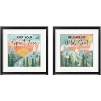 Framed Woodland Forest 2 Piece Framed Art Print Set
