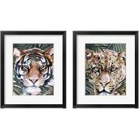 Framed Jungle Cat 2 Piece Framed Art Print Set