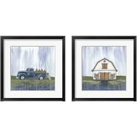 Framed Garden Truck & Barn 2 Piece Framed Art Print Set