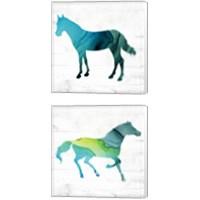 Framed Horse 2 Piece Canvas Print Set