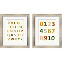 Framed ABC 123 2 Piece Framed Art Print Set