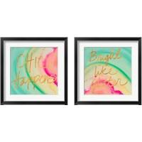 Framed Chic Glitter 2 Piece Framed Art Print Set