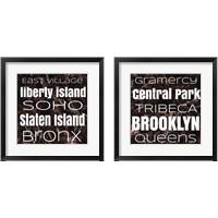 Framed New York Buroughs 2 Piece Framed Art Print Set