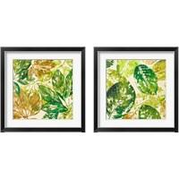 Framed Green Overlay 2 Piece Framed Art Print Set