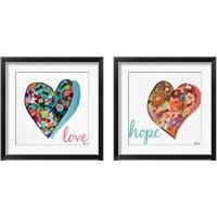 Framed Hearts of Love & Hope 2 Piece Framed Art Print Set