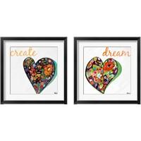 Framed Expressive Heart 2 Piece Framed Art Print Set