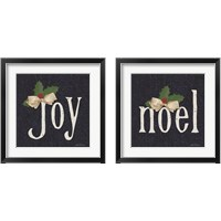 Framed Joy & Noel 2 Piece Framed Art Print Set