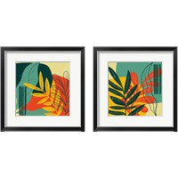 Framed Mid Century Modern  2 Piece Framed Art Print Set
