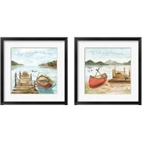 Framed Lake Love 2 Piece Framed Art Print Set