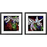 Framed Dino Bones 2 Piece Framed Art Print Set