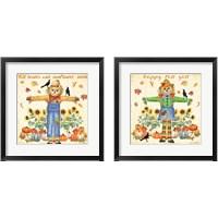 Framed Happy Fall 2 Piece Framed Art Print Set
