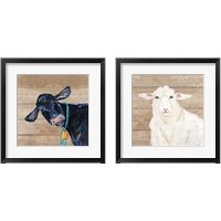 Framed Farm Animal 2 Piece Framed Art Print Set