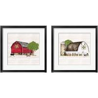 Framed Spring & Summer Barn Quilt 2 Piece Framed Art Print Set