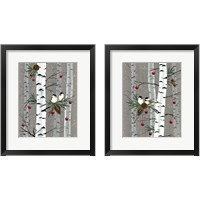Framed Birch Birds 2 Piece Framed Art Print Set