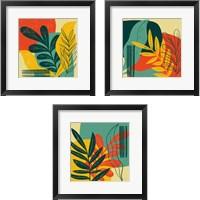 Framed Mid Century Modern  3 Piece Framed Art Print Set