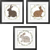 Framed Happy Bunny Day 3 Piece Framed Art Print Set
