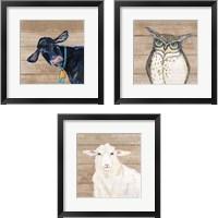 Framed Farm Animal 3 Piece Framed Art Print Set