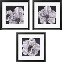 Framed Blue & White Floral 3 Piece Framed Art Print Set