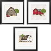 Framed Spring & Summer Barn Quilt 3 Piece Framed Art Print Set