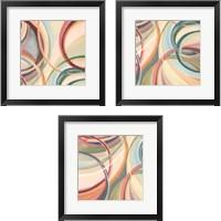 Framed Overlapping Rings 3 Piece Framed Art Print Set