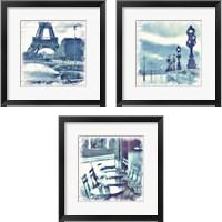 Framed Paris in Blue 3 Piece Framed Art Print Set